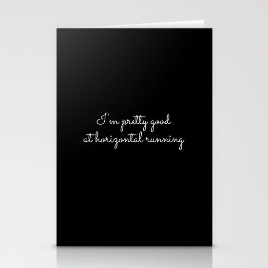 horizontal running #1 Stationery Cards