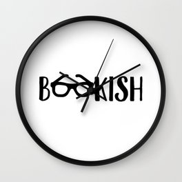 Bookish Glasses Wall Clock