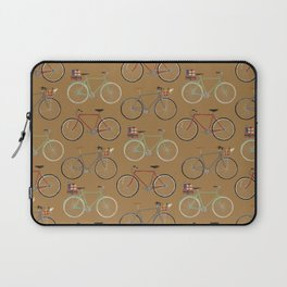 Holiday Bicycles on brown paper Laptop Sleeve