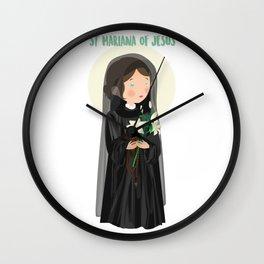 Saint Mariana of Jesus  Wall Clock