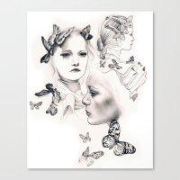 gemma Canvas Prints featuring Gemma Ward by KatePowellArt