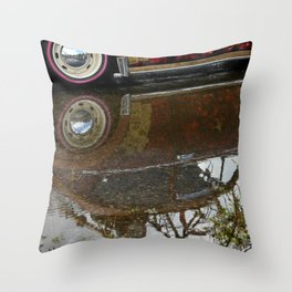 Old Beetle reflection Throw Pillow