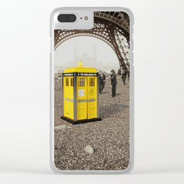 The Yellow Booth at Eiffel Tour! Clear iPhone Case
