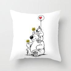 Papa Bear & Baby Bear Throw Pillow