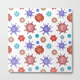 Different kinds of viruses (pattern) Metal Print