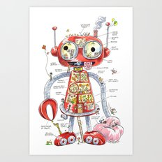 The Automaton of Astounding Magnitude Art Print