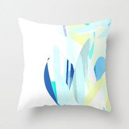 Ocean Blue Yellow Abstract Design Throw Pillow