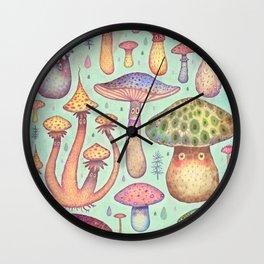 Fun, Fun, Fungi Wall Clock