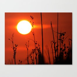 Red Bay Sunset Decor. Canvas Print