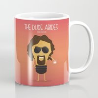 the big lebowski Mugs featuring  The Big Lebowski by BajuKhaju