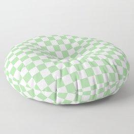 Mint Checkerboard Pattern Floor Pillow