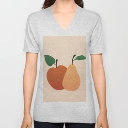 An Apple and a Pear Unisex V-Neck