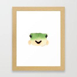 Green Pufferfish Framed Art Print