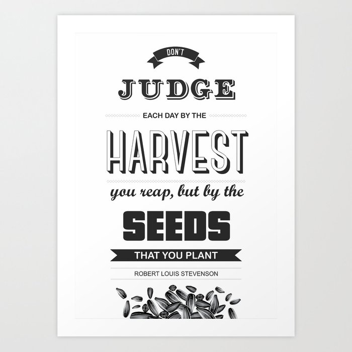 Robert Louis Stevenson quote poster for dorm wall