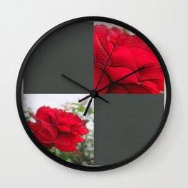 Red Rose Edges Blank Q6F0 Wall Clock