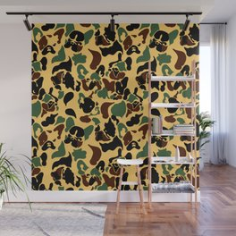 Frenchie Camouflage Wall Mural