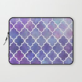 Purples & Pinks Watercolor Moroccan Pattern Laptop Sleeve