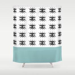 Evil Eye Blue Shower Curtain