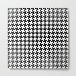 Black white pattern 4 Metal Print