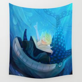 All Blue Wall Tapestry
