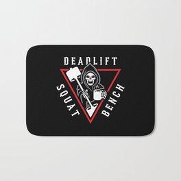 Squat Bench Deadlift Grim Reaper Bath Mat