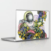 spaceman Laptop & iPad Skins featuring SPACEMAN by • PASXALY •