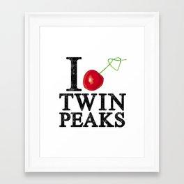 I Love Twin Peaks (Cherry Stem) Framed Art Print