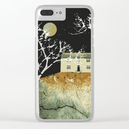 House and moon Clear iPhone Case