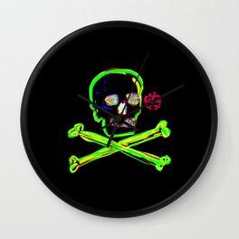 Los Muertos ^ 004 ^ Skull art Wall Clock
