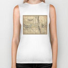 Vintage Washington D.C. Capitol Hill Map (1815) Biker Tank