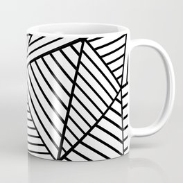 Abstraction Lines Close Up Black and White Coffee Mug