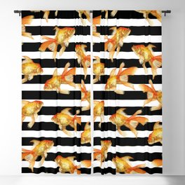 The Golden One II - b&w stripes Blackout Curtain