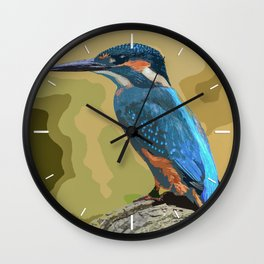 The Kingfisher Wall Clock