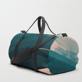 California Watercolor Winter Duffle Bag