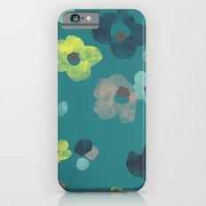 Watercolor Blooms - in Teal iPhone 6s Slim Case