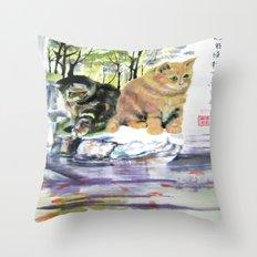 lake of desires Throw Pillow