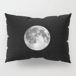 Full Moon print black-white photograph new lunar eclipse poster bedroom home wall decor Pillow Sham