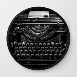 Old Typewriter Wall Clock