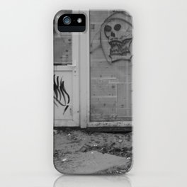Death's newspaper booth iPhone Case