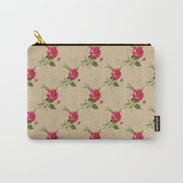 Soft Pink Roses Pattern Carry-All Pouch