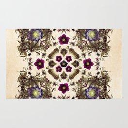 Hellebore and Nightshade Mandala Pattern Rug