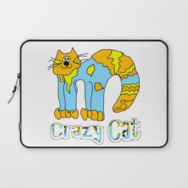 Crazy Cat Orange Laptop Sleeve