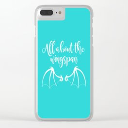 All About the Wingspan blue design Clear iPhone Case