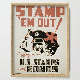 Vintage poster - Stamp 'Em Out Serving Tray