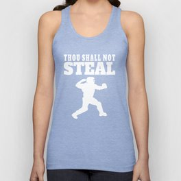 Thou Shall Not Steal Funny Baseball Catcher Unisex Tank Top