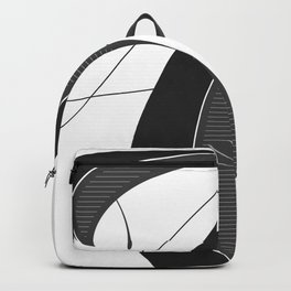 Letter A - Script Lettering Cropped Design Backpack