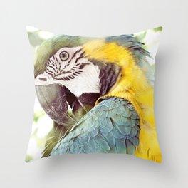 Magical Parrot - Guacamaya Variopinta - Magical Realism Throw Pillow