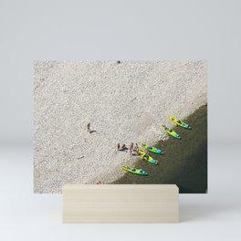 Five Canoes Mini Art Print