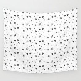 Stars and diamonds of old school tattoo Wall Tapestry