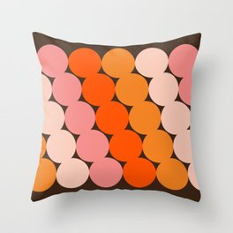 Honey Dots Throw Pillow